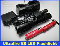 Wholesale Cheap Car Battery Chargers - 2015 Cheap Ultrafire 1800 Lumens Zoomable LED Flashlight CREE XM-L T6 LED Torch Light & 2pcs 18650 Battery & Car Charger & DHL Free Delivery