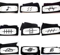 naruto bandeau cosplay achat en gros de-PrettyBaby ANIME Bandeau Naruto 95cm Feuille Village Logo Les membres Ako Akuki de Konoha Kakashi Accessoires Costume Accessoires bleu rouge noir en stock