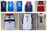 Wholesale High Wizard - Wizards High 2 John Wall Jersey Men Throwback Kentucky Wildcats College 11 John Wall Basketball Jerseys Vintage Stitched Navy Blue Red White