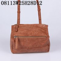 Wholesale small wax bags - Real leather shoulder bags plain color waxed leather small casual bags large volume pockets with zipper inner