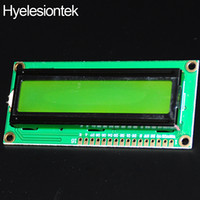 Wholesale Lcd 16x2 Green - For Raspberry PI Display-LCD-16x2 HD44780 LCD 16X2 Display Module LCD 1602 For Arduino Character 5V LCM Yellow-green Backlight