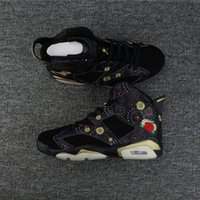 Wholesale Chinese Bonds - Wholesale with box 6 VI Chinese New Year black flower 6s MEN basketball shoes sports sneakers trainers high quality size 8-13