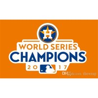 Wholesale Football World Series - 2017 Houston Astros Champions World Series Champions National Outdoor Flag Hockey Baseball College Basketball Flags Banners 3*5FT