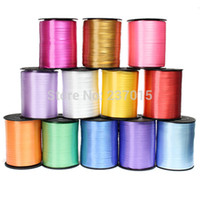Wholesale curling ribbon wholesale - New 500Yd Balloon Birthday Gifts Wrapping Wedding Decoration Giftwrap Curling Ribbon