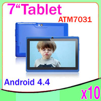 Wholesale Tablet Pc 17 Inches - Quad Core atm 7031 Bluetooth Flash Light Tablet PC with 7 inch Capacitive touch Android 4.4 Kitkat 10pcs ZY-MID-17