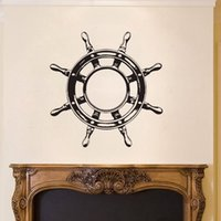 Ship Wheel Steering Wall Decals Vinyl Nautical Sign Wall Stickers Kids Bedroom Home Decor Stickers para Wall