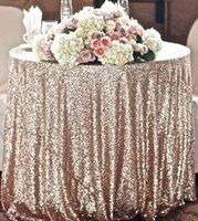 Wholesale Navy Blue Table Cloths - Custom Size Round Champagne Sequin Cloth Sequin TableCloth Wholesale Sequin Table Cloths Sparkly sequin fabric Table Sequin Linens