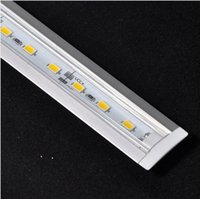Al por mayor-DHL / EMS 5630 SMD 72 LED a 1 metro / PC fresca blanca caliente ranura 10pcs / Lot / impermeable de aluminio rígido de tira llevada Light Bar