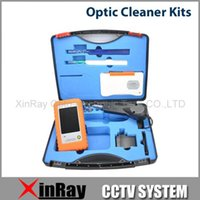Wholesale Optics Cleaning Kit - Wholesale-Free Shipping!! Hot Sell Fiber Optic Cleaner Kits FCC-A With 1.25 2.5 mm Cleaner Pen Hand-held inspection probe XY124
