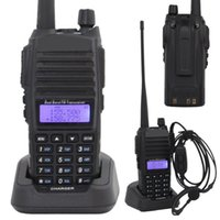 Wholesale 8w Dual Band Walkie Talkie - Wholesale-Baofeng Walkie Talkie UV-82 136-174 & 400-452 MHz Dual Band Display 8W Earphone Dual Band