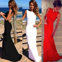Wholesale Mermaid Ball Gowns Red - Dresses Evening Wear Sexy Women Dress Prom Ball Cocktail Party Dress Formal Evening Gown Long Dress