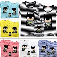 Wholesale Cheap Matching Clothing - mother and daughter matching clothes t shirt 2015 summer style batman short-sleeved T shirt father and son t-shirt cotton tee cheap 201504HX