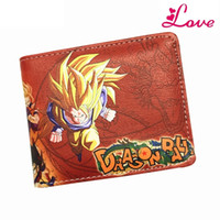 Wholesale Japanese Wallets Women - BIG The Classic Anime Dragon Ball Z Wallet Young Men and Women Students Short Wallets Japanese Cartoon Comics Purse Dollar