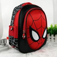 mochila escolar impermeable al por mayor-Mochilas escolares 3d Para Niños Mochilas Impermeables Niño Spiderman Bolsa de Libros Bolso de Hombro de Niños Mochila Mochila Escolar