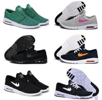 Wholesale Free Close Up - NEW SB Stefan Janoski Maxes Shoes Running Shoes Sneakers For Women And Men 631303-441 Mens Navy White Athletic Shoes Free Shipping