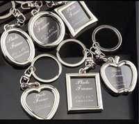 Wholesale keychain picture frames wholesale online - 6 models photo frame keychain alloy locket lover picture key chain key rings heart apple pendants for women men anniversary present