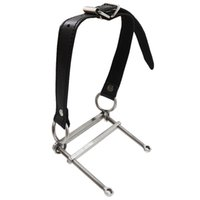 Wholesale Women Steel Restraints - Mouth Open Fixed Device stainless steel Mouth Gag Slave Restraint harness Device Oral Sex Toys For Women