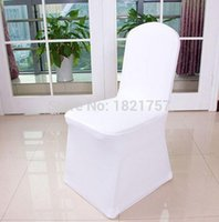 Prix ​​d'usine 200pcs Universal Polyester Spandex Wedding Chair Covers for Weddings Banquet Folding Hotel Decoration, blanc 0914 # 14
