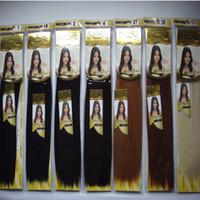 tejidos de pelo mezclado al por mayor-Sin Embalaje Colección Nanet Janet ENCORE 7 Colores Mezcla de cabello humano Fibra Futura Yaki Tejido Recto Mezcla Tejidos de pelo Yaky