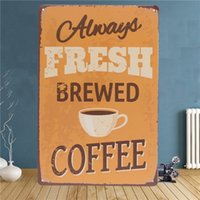 Wholesale Vintage Bathroom Poster - Beer Coffee Tavern Vintage Metal Sign Tin Poster Pub Bar Cafe Shop Decor 20*30CM order<$18no track