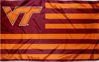 Wholesale Fly Tech - Virginia Tech NCAA 3ft x 5ft Polyester Banner Flying 150* 90cm Custom flag sport helmet VT2