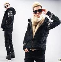fall nuevo estilo retro elegante hombre hombres ropa geniales boy invierno otoo espesar de piel falsa chaleco de abrigo corto con capucha chaleco yr