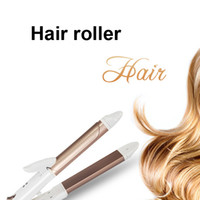 Wholesale Hair Rolling Irons - Wet And Dry Combo Hair Curling Irons Styling Tool Straight Hair Roll Ceramic Splint Wave Care Us Plug Heated Rollers