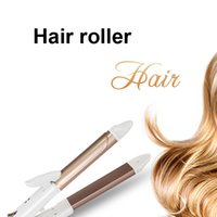 Wet & Dry Combo Hair Curling Irons Strumento per lo styling Capelli lisci Roll Stecca in ceramica Wave Care Us Plug Riscaldatori riscaldati