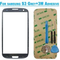 Wholesale S3 Glass Grey - Wholesale-Grey High quality LCD Display Touch Screen for Samsung Galaxy S3 S 3 i9300 9300 replacement Outer Glass Lens Digitizer Panel