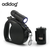 Wholesale Leash For Strong Dog - 2017 New Pet Dog Leash Led Light & Clean -Up Bag Retractable Leash For Small Medium Dogs Collar Products Harness Strong Chain R