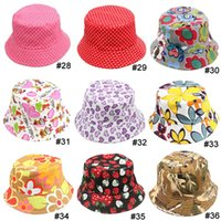 Wholesale Hats Strawberry - TOP 2015 baby Boys girls Hat 36 styles choose freely flower smile animal camouflage strawberry casual Child Hat kids Caps 10pcs lot