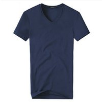 Wholesale Transparent V Neck Men - Men's Sotton T-shirt Short-sleeved V-neck T-shirt Fashion Summer New Comfortable Cotton Short-Sleeved Clothes And Transparent Free shippin