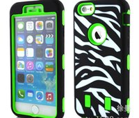 Wholesale Iphone Defender Case Zebra - new Zebra Stripe Cases For iPhone 6 iphone6 4.7 Waterproof Shock Proof Defender Back Case Covers Protecting Hybrid 2 in 1 PC Shel Free shipl