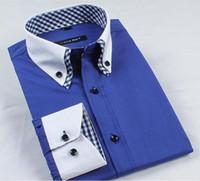 Wholesale Corduroy Shirt Dresses - Men Long Sleeve Solid Color Cotton Corduroy Shirts Men's Fashion Slim fit Dress autumn winter warm Shirts Big size M-XXXXXL