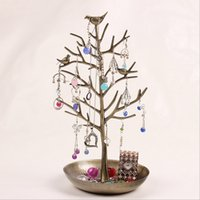 Wholesale Vintage Tree shape earrings jewelry rack shelf display hanging ornaments