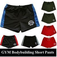 Wholesale Gold Drawstring - Brand 100% Cotton Men's Gym Shorts Gold Powerhouse Shark Shorts Fitness Men Bodybuilding Workout Sports Training Running Shorts