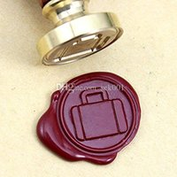 Vintage Suitcase Wax Seal Stamp With Rosewood Handle DIY Artes e Ofícios