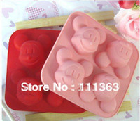 Wholesale Silicone Soap Molds Christmas - Wholesale DIY Mickey Mouse Silicone Cake Molds,Silicone handmade tool soap mold Mold,Kids Christmas bakeware