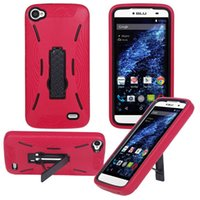 Wholesale Durable Plastic Clips - Hot Selling Durable Super Combo Heavy Duty Shockproof Cell Phone Case With Kickstand TPU+PC For BLU Dash X Plus D950U