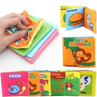 Wholesale Educational Cloth Books - Hot Sales Kids Baby Cloth Books Nursery Decor Educational Intelligence Development Soft Size 10*9CM CX301 Free Shipping