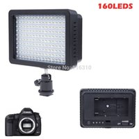 Wholesale cameras photographic - 160 LED Video Camera Light Photographic lamp W LM Dimmable for Canon Nikon DSLR Camera Camcorder