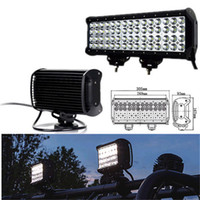 Wholesale Spot Flood Combo 4wd Led - 12inch 144W Quad Row Cree LED Work Light Bar Spot Flood Combo Beam Driving Light for Trucks 4WD Offroad UTE Light Boat