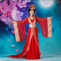 Wholesale costume chinese dance - ancient costume clothing Tang suit dancing dress Han Chinese Clothing costume The tang dynasty empress Empress Wu Zetian