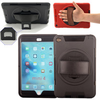 Wholesale Gold Ipad Mini Case - For iPad mini2 Robot Cases For iPad 2 3 4 5 6 ipad air Mini Hybrid Soft Silicone Hard PC Case Cover With stand Holder and Screen Protector