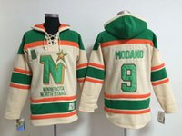 Wholesale Wholsale Hockey Jerseys - Factory Outlet, #9 Mike Modano Old Time Wholsale Dallas Stars Hockey Hoodie Jersey Sweatshirt Jerseys, Stitched sewn Numbering Lettering.