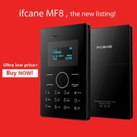 2015 оригинальная Ultra Thin Children Card MP3 iFcane MF8 Mini Mobile Phone Мобильный карманный карман с более старой поддержкой с клавиатурой Россия / арабский
