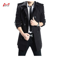 Wholesale Men Double Breasted Coat Sale - Fall-Winter long coat men Hot sale male jackets Double Breasted Stylish Pea Coats Men Coat High Quality Trench Coat YL1232