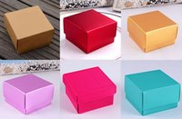 Wholesale 100Pcs Pearl carton Floding Box Wedding Party Favor Holders Gift Box Size cm Candy Boxes Spring Style
