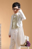 Wholesale Boys Special Occasion Wear - Boys Formal Occasion Tuxedo 4pcs Suits=Coat+Pants+Tie+Girdle 2-13Y Children's Special Occasions Outfits Evening Party
