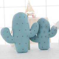 Wholesale lovely boys photos - Wholesale- 2 Size Lovely Cartoon Cactus Shape Cushion Pillow Kids Bed Room Decoration Calm Sleep Dolls Photo Props Toys Gift For Boy